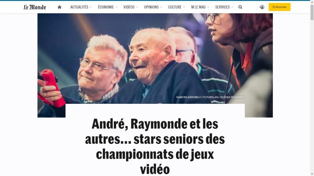 Image de l'article sur le site lemonde.fr à propos de Silver Geek